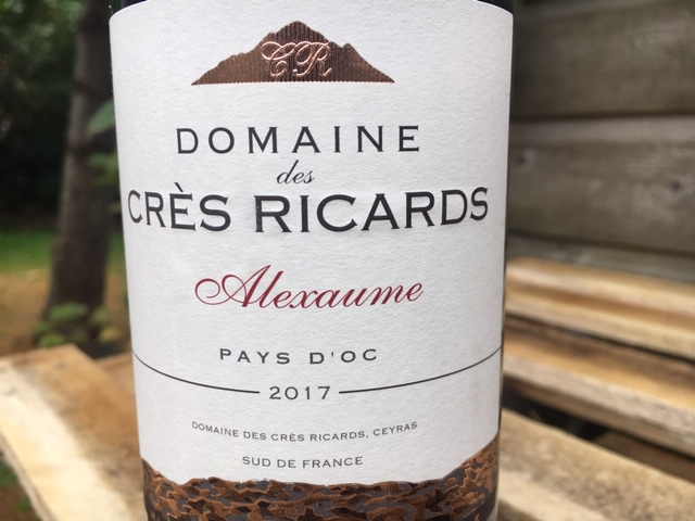 Volle Franse rode wijn Domaine des Cres Ricards